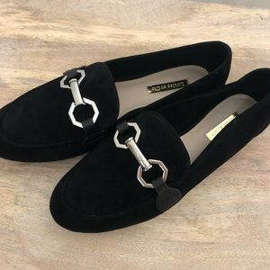 Louise et Cie Faunia Black Suede Loafers